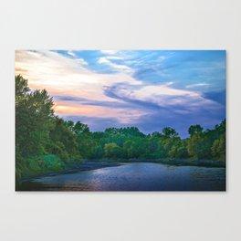 Little Racoon River Canvas Print