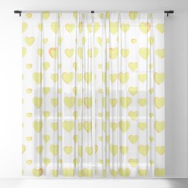 Made for you my heart 25 Sheer Curtain