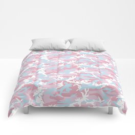 Pink Candy Camouflage Pattern Comforters