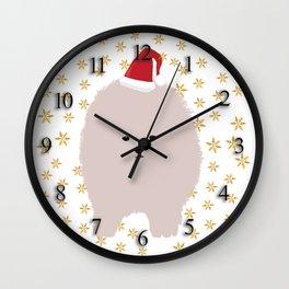 Happy Holidays Fluffy Wall Clock