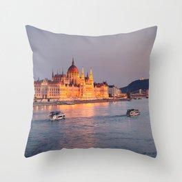 Budapest Parliament. Throw Pillow