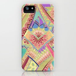 Rise and Shine - Rainbow Hued, Multi-Colored Doodle iPhone Case