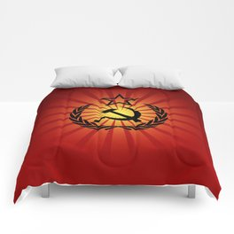 Sunny Hammer and Sickle Comforters