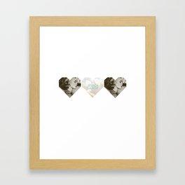 Jessica Lange Heart Framed Art Print