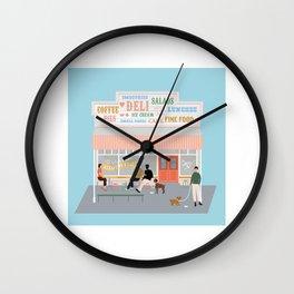Queen Sally's Diamond Deli, Lyall Bay, Wellington, NZ Wall Clock
