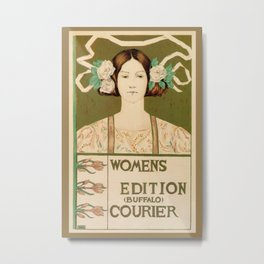 1895 Buffalo Courier for women  New York Metal Print