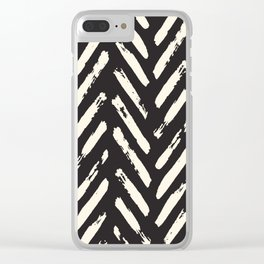 Retro Chevron Pattern Clear iPhone Case