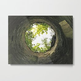 Into the pit - Lismore Towers Metal Print