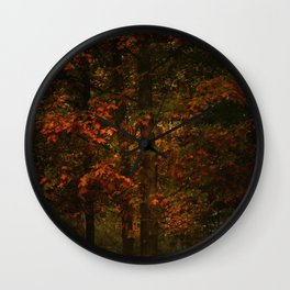 Fire of autumn Wall Clock