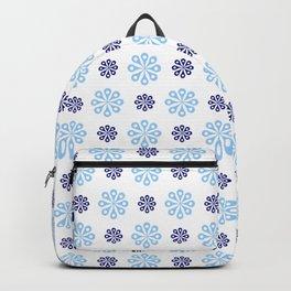 geometric flower 57 blue Backpack