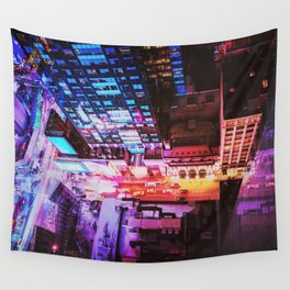New York City Blade Runner Wall Tapestry