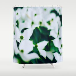 Bouquet Of White Flowers With Blurry Edit Shower Curtain