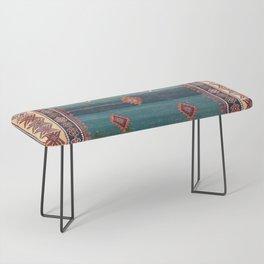 Sivas Antique Turkish Niche Kilim Print Bench