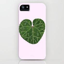 Cyclamen leaf - pink iPhone Case