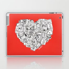 Camera Heart - on red Laptop & iPad Skin