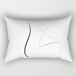 """""""She meditates"""" Rectangular Pillow"""