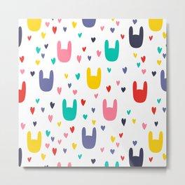 colorful rabbits Metal Print