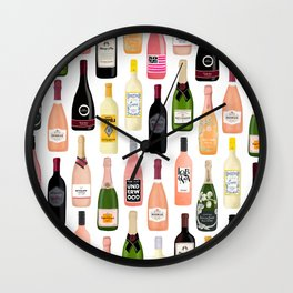 Wine & Champagne Bottles Wall Clock