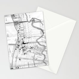 Vintage Map of Coney Island (1879) Stationery Cards