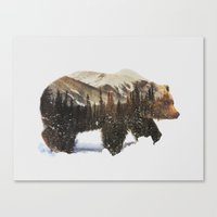 Canvas Prints featuring Arctic Grizzly Bear by Andreas Lie