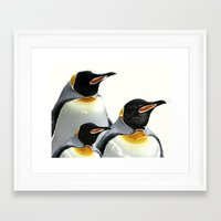 penguins Framed Art Prints featuring Penguins by Regan's World