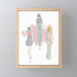 Fashionary 7 Framed Mini Art Print