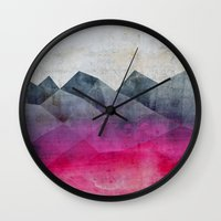 concrete Wall Clocks featuring Pink Concrete by cafelab