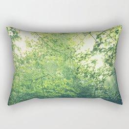unreal green - hazy summer forest Rectangular Pillow