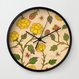 Minhwa: Peony Pattern B Type Wall Clock