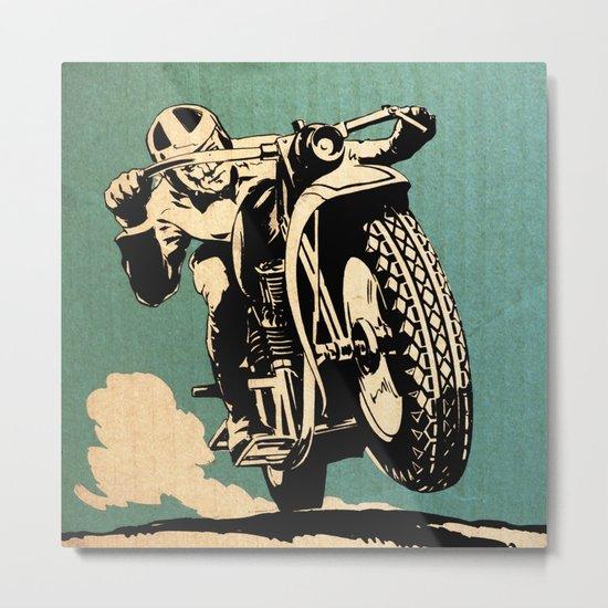 Motorcycle Race Metal Print