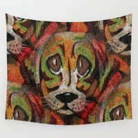 puppy Wall Tapestries featuring Puppy Eyes by Sartoris ART