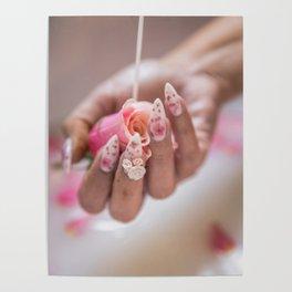 Milk Bath Roses Poster