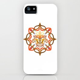 Vector Pattern Flowers Mandala iPhone Case