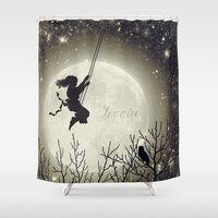 imagine Shower Curtains featuring Imagine by Paula Belle Flores
