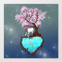 the last unicorn Canvas Prints featuring Last Unicorn by Astrablink7