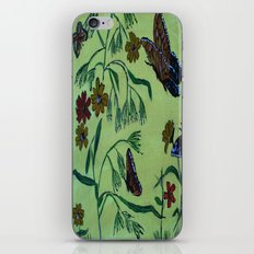 wildflowers and butterflies iPhone & iPod Skin