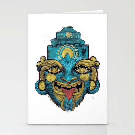 Morpho Mask Stationery Cards