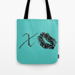Hugs and Kisses (Mint) Tote Bag