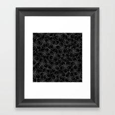 Cherry Blossom Black on White - In Memory of Mackenzie Framed Art Print