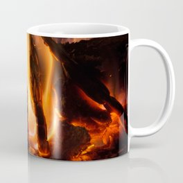 Fire in chimney Coffee Mug