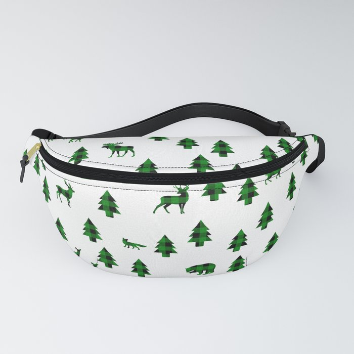 Woodland Pattern: Green Buffalo Plaid Fanny Pack