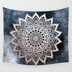 BLUE BOHO NIGHTS MANDALA Wall Tapestry