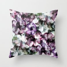 Vintage Floral Abstract Throw Pillow