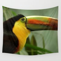 toucan Wall Tapestries featuring Toucan... by Nature In Art...
