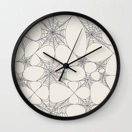 Spiderweb Pattern Wall Clock