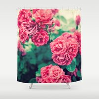 flora Shower Curtains featuring Flora by Laura Ruth