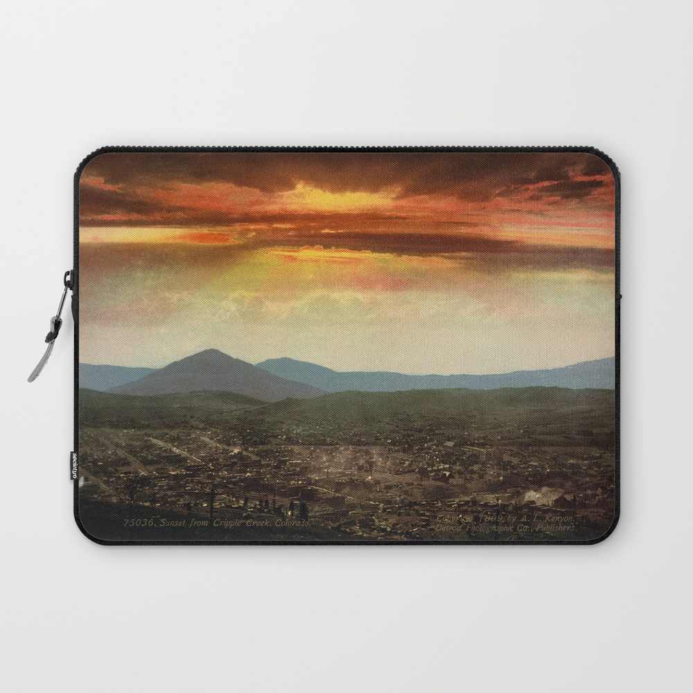 Sunset From Cripple Creek, Colorado, Ca. 1899 Laptop Sleeve LSV8865366