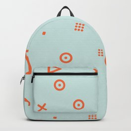 Happy Particles - Light Green Backpack