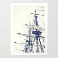 pirate ship Art Prints featuring Pirate Ship  by Bree Madden