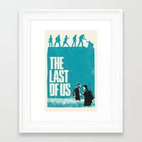 the last of us Framed Art Prints featuring The Last Of Us by Bill Pyle